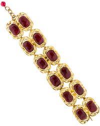 Chanel - Vintage Gripoix Bracelet Gold - Lyst