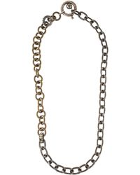 Lanvin - Chain-link Crystal Necklace Brass - Lyst