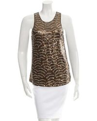 Gryphon - Sequined Sleeveless Top - Lyst