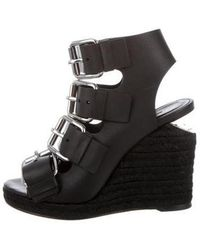 Alexander Wang - Leather Wedge Sandals - Lyst