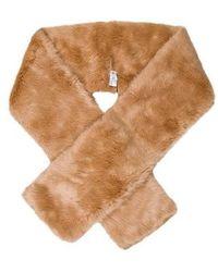 Carven - Faux Fur Stole W/ Tags Tan - Lyst