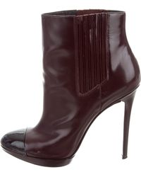B Brian Atwood - Cap-toe Ankle Boots - Lyst