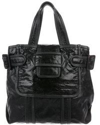 Pierre Hardy - Alpha Perforated Leather Tote Black - Lyst