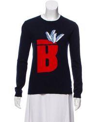 Banjo & Matilda - Printed Knitted Sweater Navy - Lyst