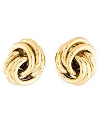 Givenchy - Twisted Clip-on Earrings Gold - Lyst