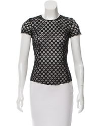 Nina Ricci - Embroidered Lace Top - Lyst