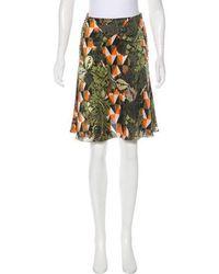 Ostwald Helgason - Silk Printed Skirt - Lyst