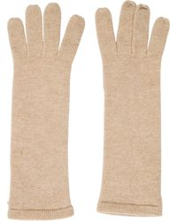 Chanel - Fine Knit Cashmere Gloves Beige - Lyst