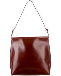 The Row - Leather Wander Bag Silver - Lyst