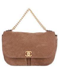 ab733b5eea06 Lyst - Chanel Paris-edinburgh Highlander Messenger Bag Black in Metallic