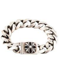 Chrome Hearts - Cross Id Chain Bracelet Silver - Lyst