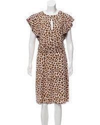 8d2513b0442 Lyst - Tory Burch Sleeveless Printed Midi Dress W  Tags in White