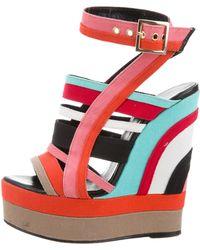 Pierre Hardy - Platform Wedge Sandals Orange - Lyst