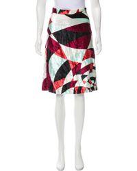 Emilio Pucci - Printed Velvet Skirt Multicolor - Lyst