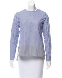 Tomorrowland - Striped Long Sleeve Top - Lyst