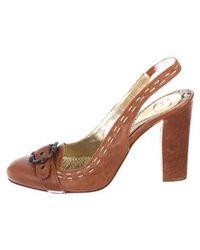 Just Cavalli - Leather Round-toe Pumps - Lyst