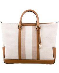 3a7568d9e5d0 MICHAEL Michael Kors - Michael Kors Beckett Leather-trimmed Bag Natural -  Lyst