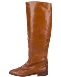 5fae09c8327 Lyst - Manolo Blahnik Pascaputre Stretch-Suede Tall Boots in Brown