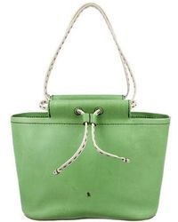 Henry Beguelin - Leather Drawstring Bucket Green - Lyst