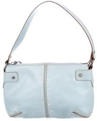 330e0066c9ed MICHAEL Michael Kors - Michael Kors Embellished Leather Shoulder Bag Blue -  Lyst