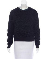 Carven - Textured Knit Sweatshirt - Lyst