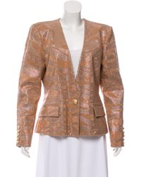 Balmain - Embellished Evening Jacket Beige - Lyst