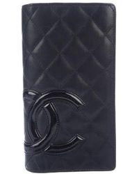 Chanel - Ligne Cambon Yen Wallet Black - Lyst