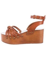 Étoile Isabel Marant - Leather Platform Sandals - Lyst