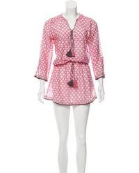 Talitha - Patterned Drop Waist Dress W/ Tags Pink - Lyst