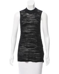 Helmut Lang - Sleeveless Rib-knit Top - Lyst