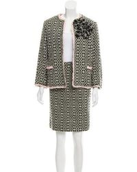 Moschino - Ruffle-trimmed Tweed Skirt Suit - Lyst