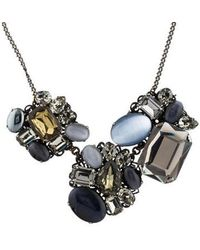 Erickson Beamon - Crystal Cluster Collar Necklace Gold - Lyst