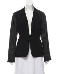 Lanvin - Silk Long Sleeve Blazer - Lyst