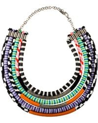 Missoni - Knit Collar Necklace Silver - Lyst