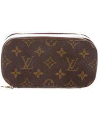 Louis Vuitton - Monogram Trousse Blush Pm Brown - Lyst