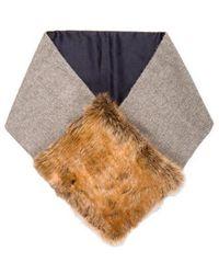 Rachel Comey - Faux Fur-trimmed Scarf Grey - Lyst