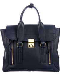 3.1 Phillip Lim - Medium Pashli Satchel Navy - Lyst