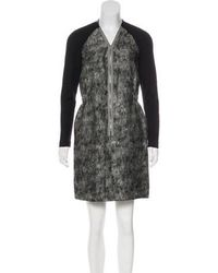 Behnaz Sarafpour - Long Sleeve Wool Dress Black - Lyst