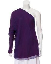 The Row - Baeen Silk Top - Lyst