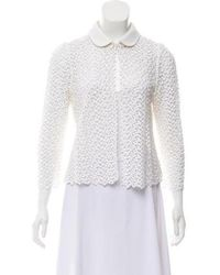 Peter Som - Collared Lace Jacket - Lyst