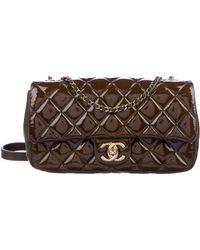 6d0999097fd811 Lyst - Chanel Paris-bombay Large Shiva Flap Bag Brown in Metallic