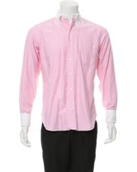 Black Fleece By Brooks Brothers - French Cuff Striped Shirt - Lyst