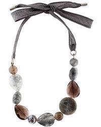 Brunello Cucinelli - Multistone Collar Necklace Silver - Lyst