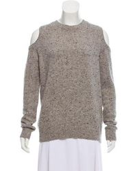 Rebecca Minkoff - Wool Knit Sweater Grey - Lyst