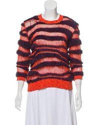 KENZO - Open Knit Crew Neck Sweater Orange - Lyst ea3925925