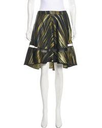 Ostwald Helgason - Jacquard Knee-length Skirt - Lyst
