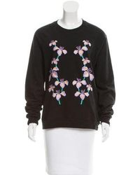 Holly Fulton - Floral Embroidered Crew Neck Sweatshirt - Lyst