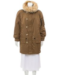 Marc Jacobs - Hooded Short Coat W/ Tags Olive - Lyst