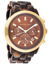 Michael Kors - Tortoise Watch - Lyst