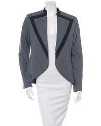 Timo Weiland - Collared Open Front Blazer Blue - Lyst